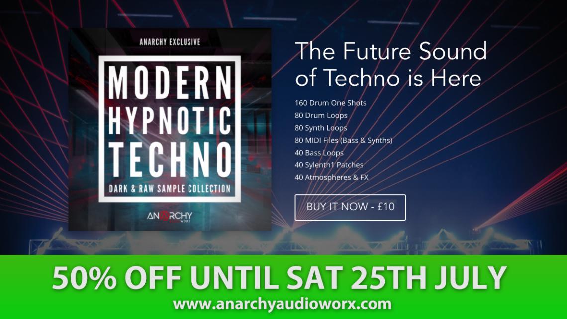 Modern Hypnotic Techno Sample Library www.anarchyaudioworx.com